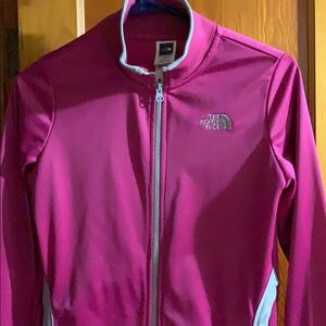 North face athletic zip up size small